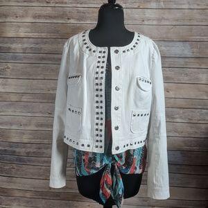 Vince Camuto Studded Snap Button Jacket